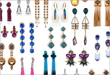 Модные серьги 2012.