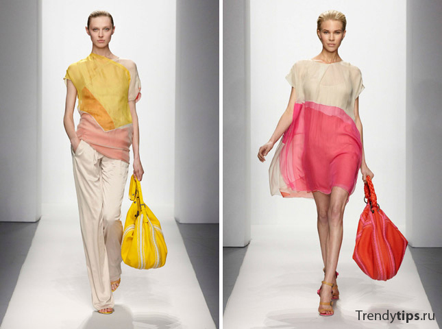 сочетание цветов в одежде Bottega Veneta