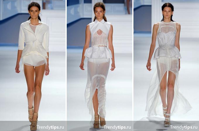 юбка с баской, Wera Wang.