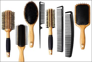 виды расчесок: щетки для укладки и гребни для волос