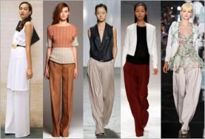 Широкие брюки. С чем носить?
