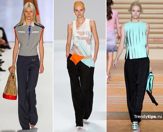 широкие брюки, Lacoste, NARCISO-RODRIGUEZ, Versus