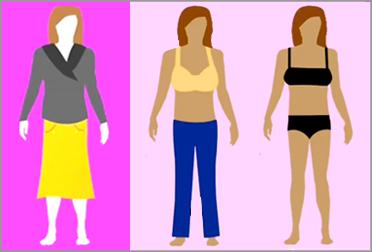 Тип фигуры перевернутый треугольник. Как подобрать одежду, джинсы и купальник?