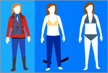 Тип фигуры прямоугольник. Как подобрать одежду, джинсы и купальник?