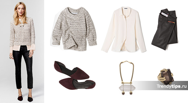 Модный повседневный гардероб. 10 вещей=10 комплектов.