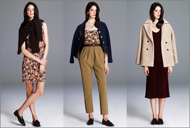 Сочетания цветов и примеры комплектов одежды для цветотипов темная зима и темная осень