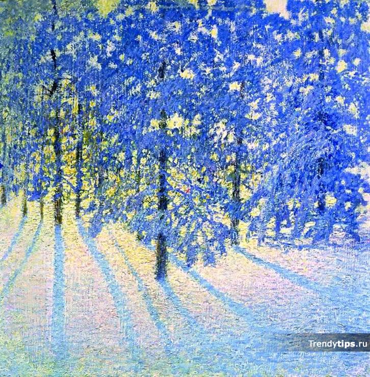 Цветотип яркая зима картина